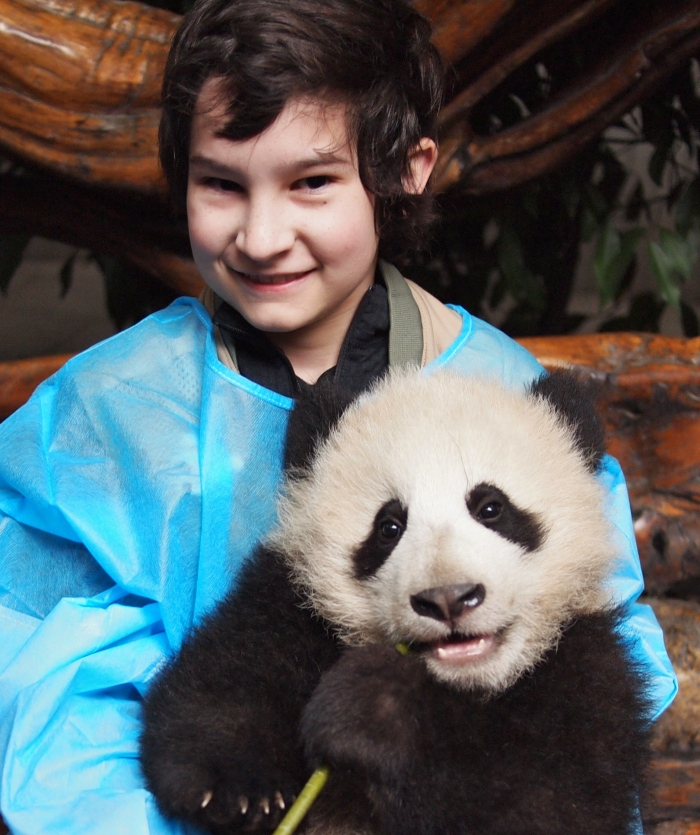 Youngest GeoKid and baby giant panda