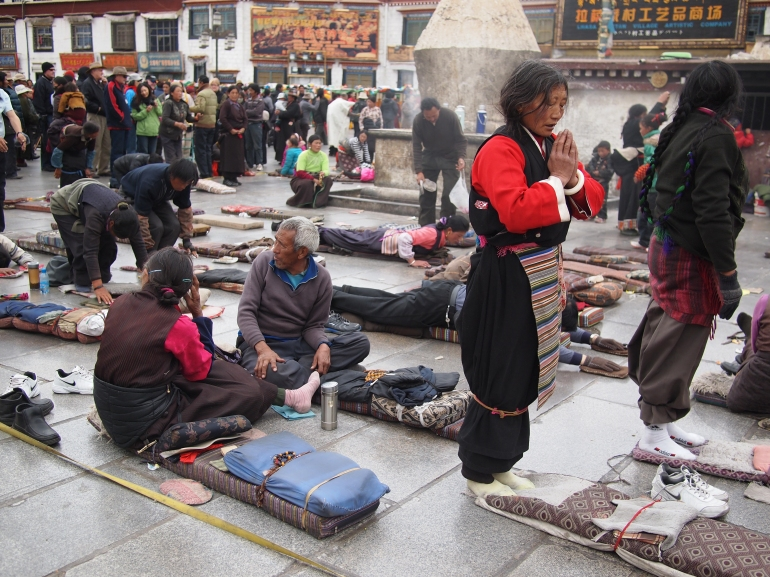 Pilgrims in Lhasa