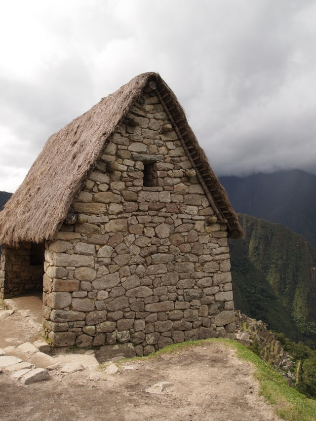 Stone guardhouse at Machu Picchu