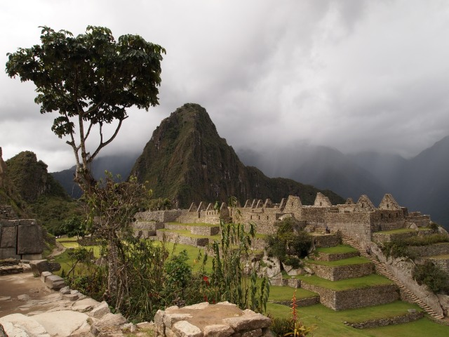 In the townsite of Machu Picchu