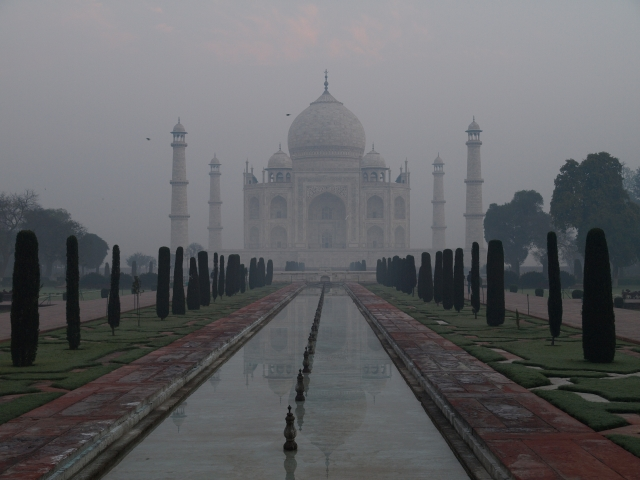 Taj Mahal at first light