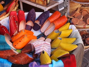 Colourful slippers in the souk, Marrakech