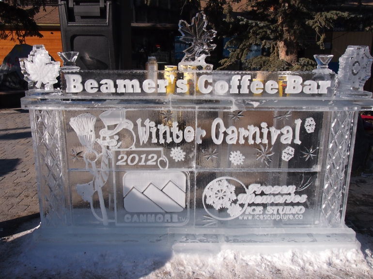 Frozen coffee bar