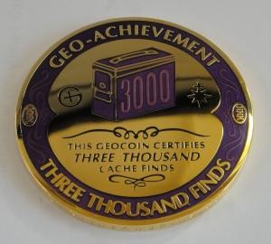 3000 Finds Geocoin