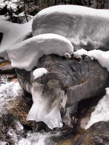 Another ice formation on the creek