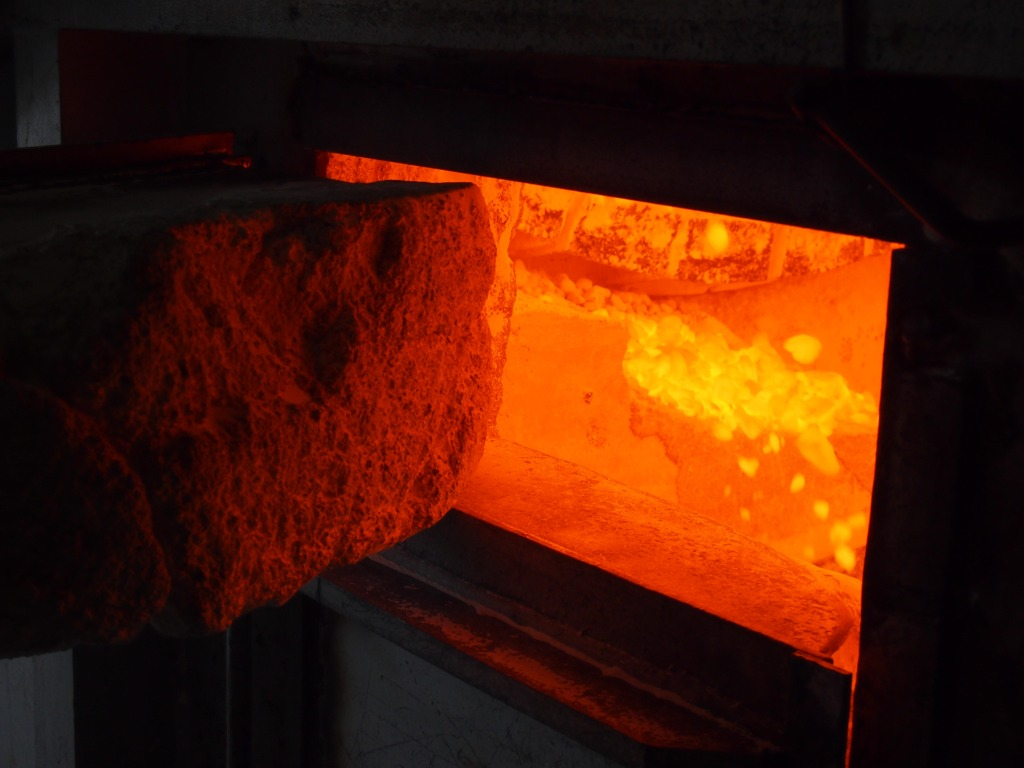 A peek inside the kiln