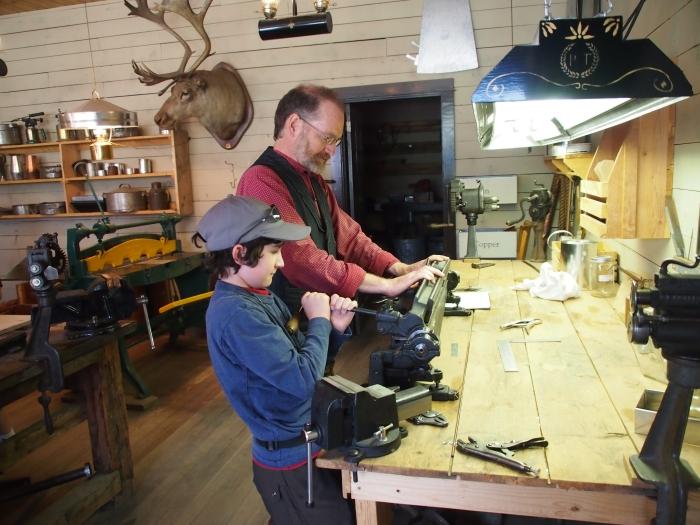 Tinsmiths at work