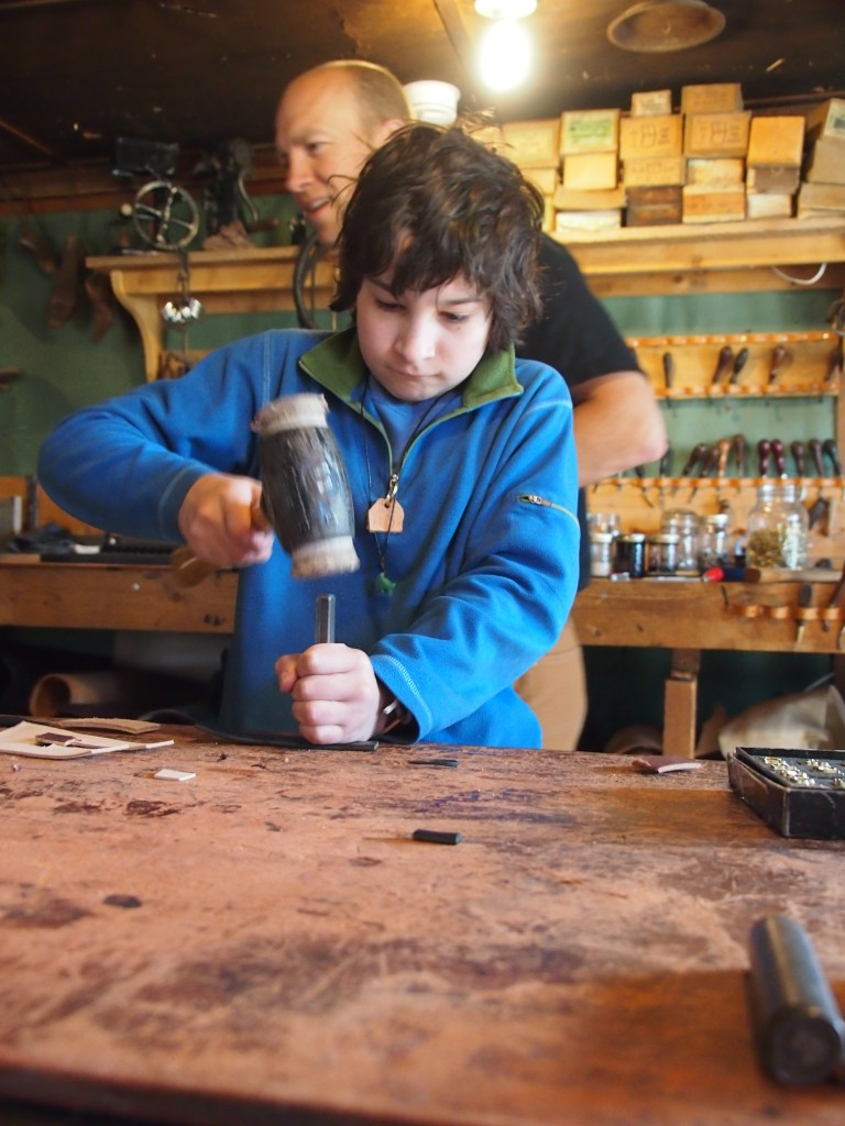 Leather worker-in-training