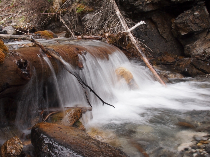 A cascade on Three Sisters Creek