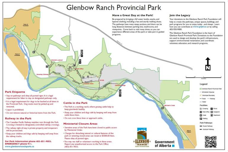 Glenbow Ranch Map