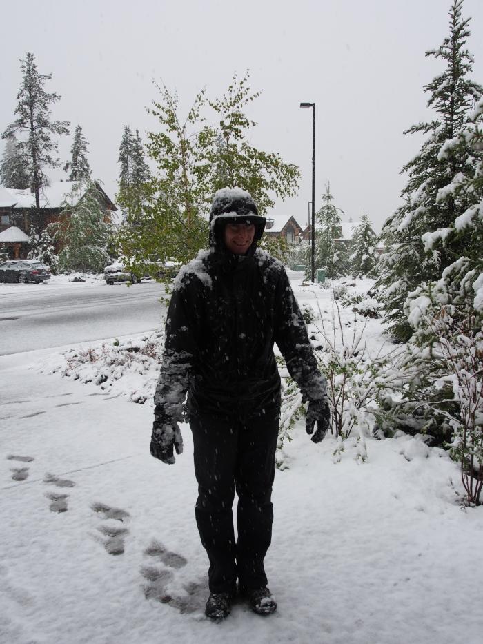 Walking snowman