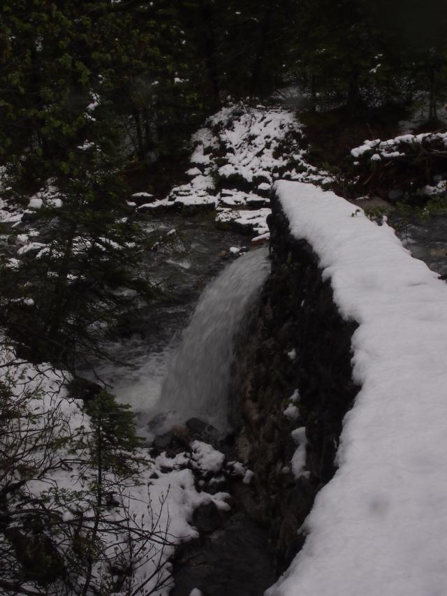 Old miners' dam on Three Sisters Creek