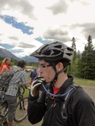 C, just after finishing his test ride of the 2012 route
