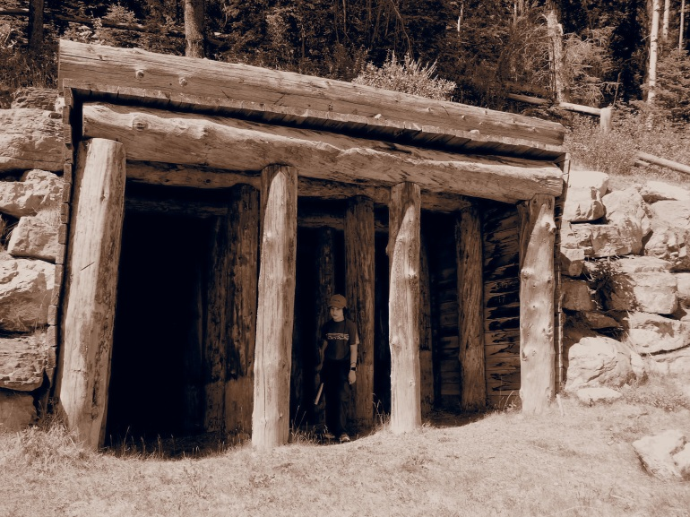 Old coal mine entrance