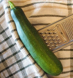 Zucchini ready for grating