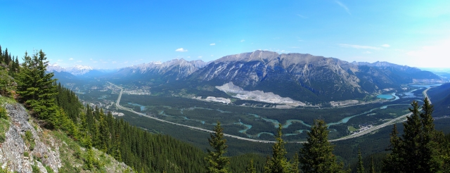 View of Bow Valley from Wind Ridge