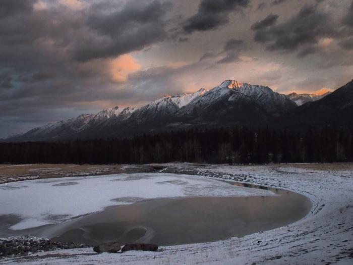 Sunrise reflecting off Mount Lady MacDonald
