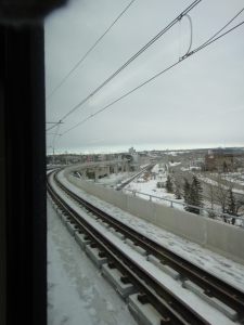 Here's a look at Sunalta Station approaching from downtown. This section of the track is elevated and so is the station, which helps keep vehicular traffic moving into and out of the core.