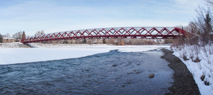 Peace Bridge over the Bow River