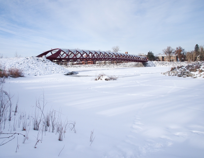 Peace Bridge viewed from Prince's Island Park
