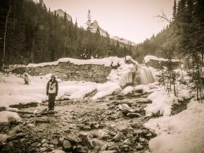 K at Three Sisters Creek, just below the old dam