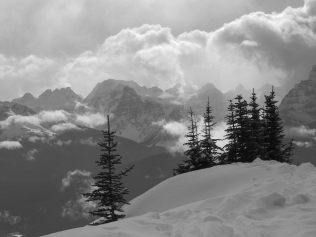Looking down the Bow Valley