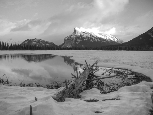 Mount Rundle across Vermillion Lake