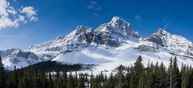 Crowfoot Glacier and Crowfoot Mountain