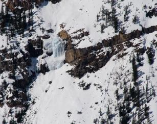 The frozen waterfall