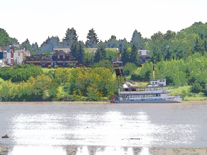 It'll be a while before the water's clean enough for Heritage Park's paddle wheeler, the S.S. Moyie
