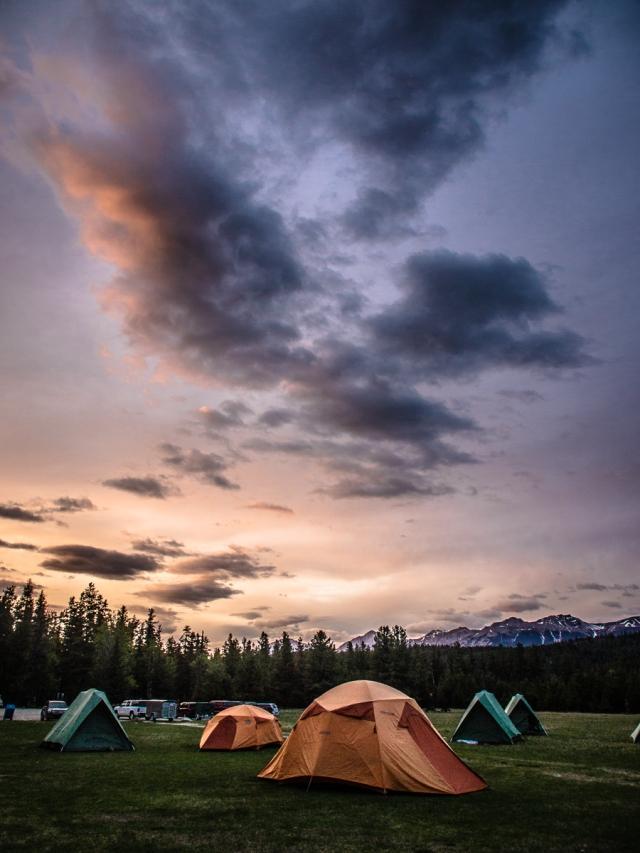 Sunset at Marmot Meadows campsite