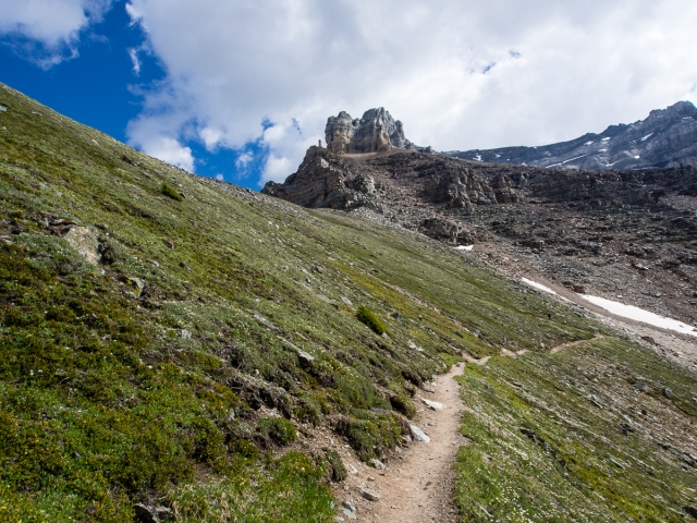 Gain the rest of this hike's elevation along a series of nice wide switchbacks from the Minnestimma Lakes to Sentinel Pass