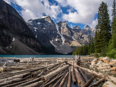 Moraine Lake, from the shoreline near the parking lot