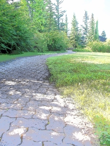 Paving stone pathway in James H. Gray park