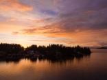 West Bamfield at Sunrise Tuesday