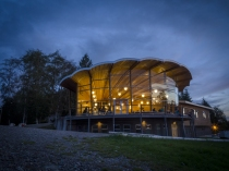 RIX Centre at Dusk on Tuesday