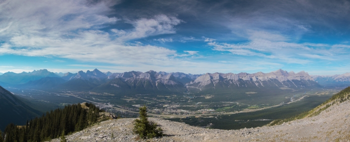 View across the Bow Valley from near the tea house