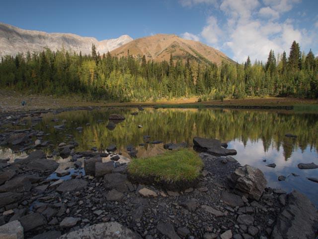 Pocaterra Ridge reflected on the tarn