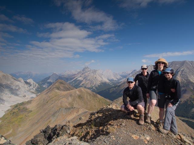 Family photo on Pocaterra Ridge