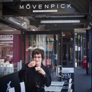 When we spotted the Movenpick shop on Beach Street, it had been three years since K last enjoyed a scoop of his all-time favourite brand of ice-cream. That was in Petra, Jordan. Although we continued to check grocery stores in Canada and have emailed Movenpick (with no response) about whether their frozen treat is available in our home country, we haven't been able to find it anywhere. We we visited the Queenstown Movenpick shop twice while we were there.
