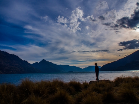 K on the shore of Lake Wakatipu