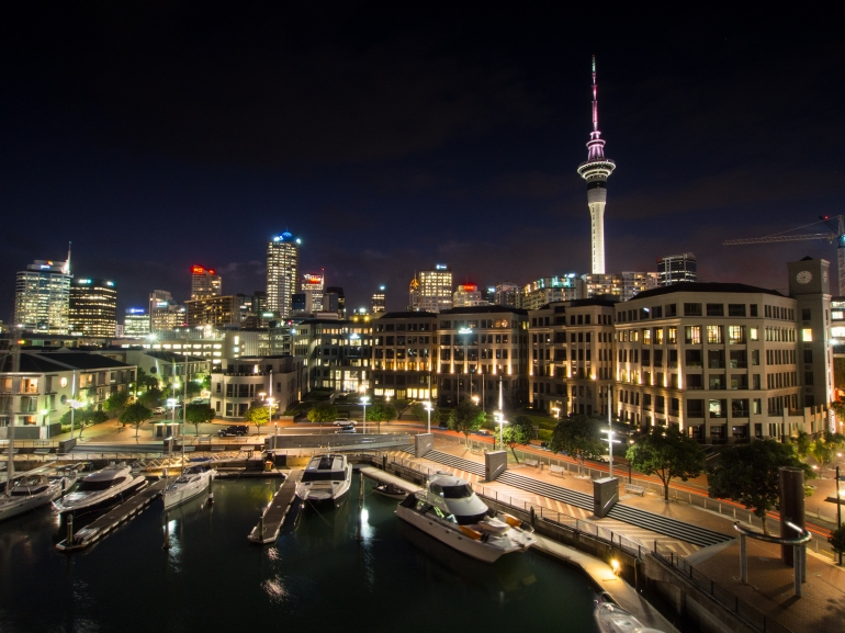 Auckland-at-night