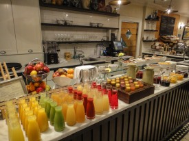 Breakfast buffet at Sofitel in Queenstown