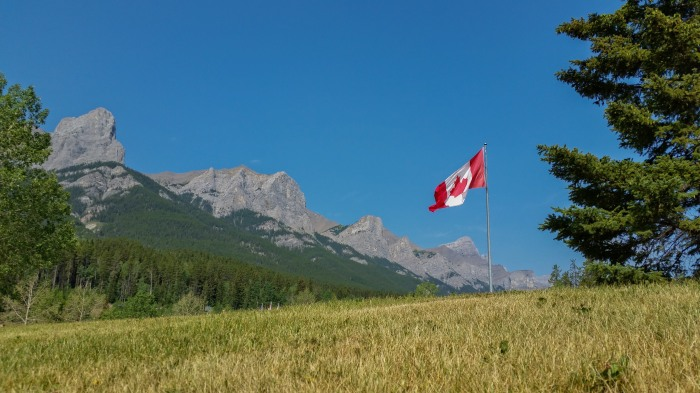 Canmore-Nordic-Centre-Canada-Flag