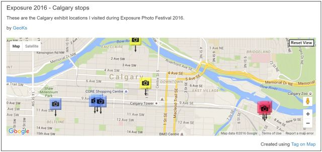 Exposure 2016 Tag on Map