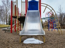 Playground-slide-snow