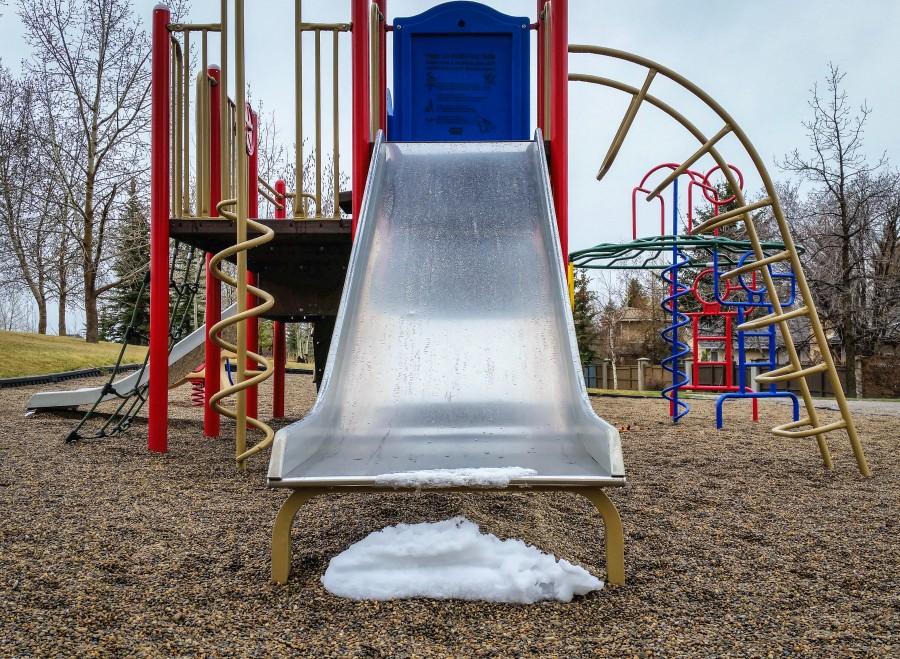 Playground-slide-snow