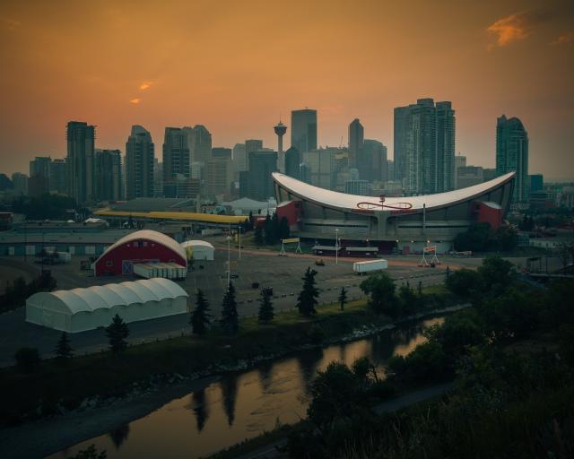 Calgary-tower-sunset