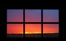 sunset-through-window