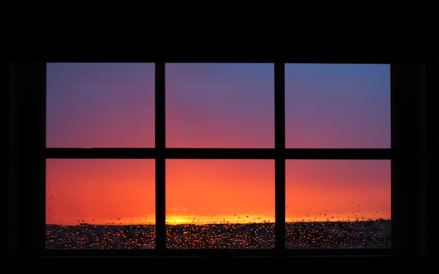 sunset-through-window